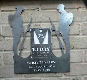 Mild Steel Soldiers – VJ Day 75TH Anniversary Garden Wall Mounted