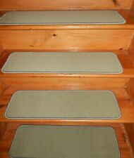 "14= STEP 9"" x 30"" + LANDING 30'' x 30'' Stair Treads WOVEN WOOL Tufted Carpet ."