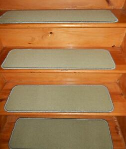 """14= STEP 9"""" x 30"""" + LANDING 30'' x 30'' Stair Treads WOVEN WOOL Tufted Carpet ."""
