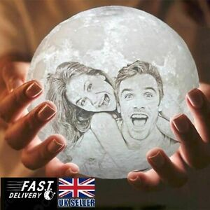 12CM Personalized Moon 3D Print Moon Lamp Night Light Photo Custom made