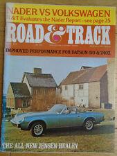 Road & Track Apr 1972 Toyota Crown, Jensen Healey