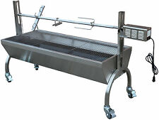 Rotisserie Grill Roaster Stainless Steel 13W 88LBS capacity BBQ charcoal pig