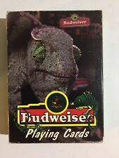 Budweiser~ Lizard Playing Cards~(Frank)~Vintage~199 8~Anheuser-Busch Advertising