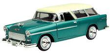 Motor Max 1955 Chevy Bel Air Nomad Green 1/24 Diecast Car 73248AC-GRN