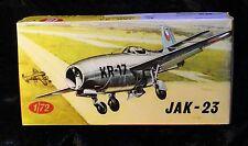 Yak-23 aircraft KP Plastikovy Jak-23 model kit in 1/72 scale