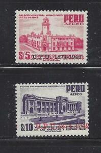 PERU - C100-C101 - MH - 1951 - 75TH ANN OF UPU (IN 1949)