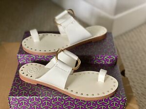 TORY BURCH O Ring studded Leather Sandals 6.5 BNWT