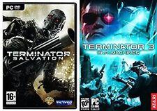 Terminator 3 Guerra de la máquina y Terminator La Salvación Nuevo y Sellado