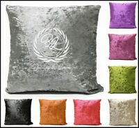 "Luxury Crushed Velvet Cushion Pads Cover Plain Soft Scatter 18"" (45cmX45cm) New"