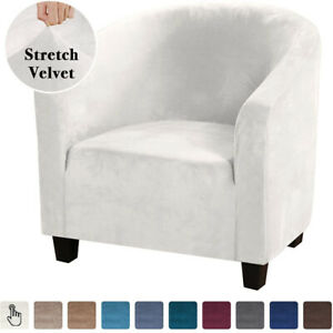 Elastic Stretch Velvet Tub Sofa Armchair Seat Couch Cover Protector Slipcover 1X