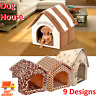 Dog House Dog Bed Foldable Cat House Small Footprint Pet Bed Tent Cat Kennel