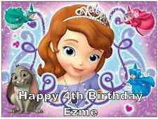 "DISNEY Sofia The First A4 personalizzati CAKE TOPPER wafer carta 7,5 ""DA 10"""