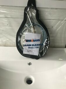 drain cleaner 8mm x 15ft