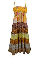 BOHEMIAN WOMENS VINTAGE MAXI DRESS BOHO HIPPY CHIC GYPSY PATCHWORK DRESSES