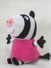 "TY ZOEY ZEBRA PEPPA PIG 7"" PLUSH SOFT TOY BEANIE"