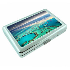 Great Barrier Reef D1 Silver Metal Cigarette Case RFID Protection Wallet