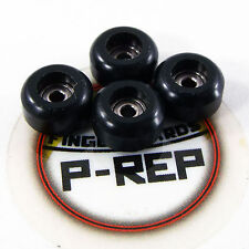 Peoples Republic- CNC Lathed Bearing Wheels for wooden fingerboard  - Black