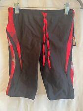 New ListingMen's Racing Swim Performance Speedo Black with Red Stripe Design Size 32