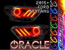 2015 Ford Mustang Oracle ColorSHIFT SMD LED Headlight Halo Kit w/ Concept DRLs