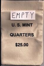 Empty U.S.Mint Canvas Quarter Bag
