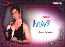 TNA Roxxi 2009 Knockouts Signature Curves BLUE Authentic Autograph Card SN 4 /25