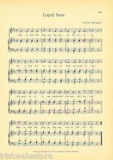 """PHI KAPPA SIGMA Vintage Fraternity Song Sheet c 1941 """"Loyal Sons"""" - Original"""