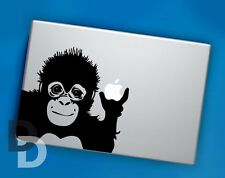 Monkey Macbook decal / Vinyl Laptop sticker / Cute Animal Stencil