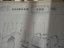 clinton parts list,clinton 100 illustrated clinton engine 1963pr