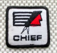 """CHIEF EMBROIDERED SEW ON PATCH NAME ADVERTISING BADGE UNIFORM 2 1/2"""" square"""