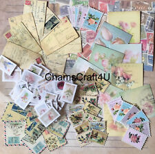 Craft clearout mix, card toppers / paper die cuts, bundle joblot vintage stamps