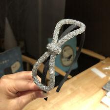 Fashion Women's Thin Crystal Hairband Headband Knot Hair Band Hoop Accessories