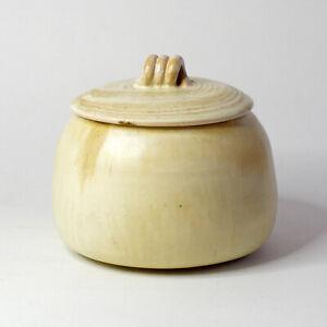 ROGER GUERIN (Belgium) Studio / Art Pottery - Art Deco Lidded Earthenware Pot