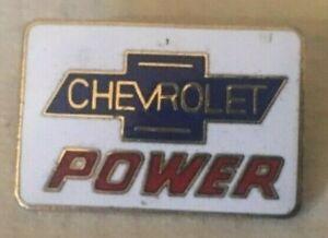 CHEVROLET POWER VINTAGE PIN BADGE 2.5 X 1.5 CM