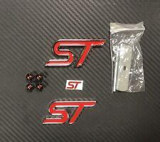 Kit Stemma Logo Ford ST Line In Metallo Fiesta Focus Kuga Ka Ecosport Mondeo
