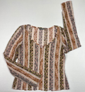 PER UNA   Marks & Spencer Long Sleeve Floral Pink Lace Blouse Top   Size 18
