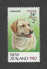 Dog Art Head Portrait Postage Stamp LABRADOR RETRIEVER New Zealand 1982 MNH