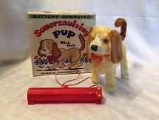 Vtg Somersaulting Pup With Bark T.N. Japan Battery Remote Control Dog W/Box