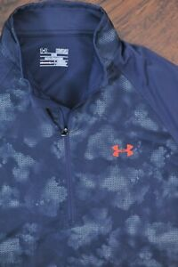 Under Armour Golf Sweet Spot 1/2 Zip Pullover Gray Print Men's Medium M