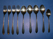 WMF CROMARGAN GERMANY - STUART - 9 PIECES - STAINLESS FLATWARE FORK SPOON