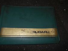 1990'S SUBARU FORESTER GREEN / GOLD OWNERS MANUAL DELUXE CASE USED ORIGINAL EMPT