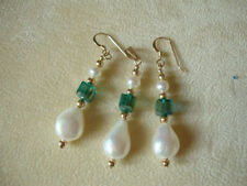 Hook Pearl Yellow Gold Filled Drop/Dangle Costume Earrings