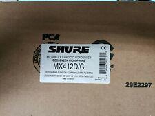 Shure Microflex Cardioid Gooseneck Microphone (MX412D/C)