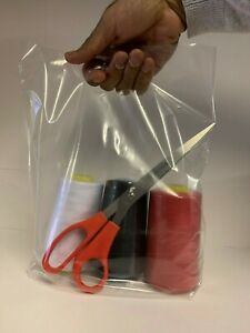 Clear Plastic Carrier Bag with Patch Handle - 10'' X 12'' X 4'' Next Day Deliver