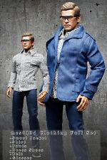 mcs0134 Blue Clothing Set Jacket+Shirt+Pants+Belt+Shoes+Glasses for 1/6 Figure