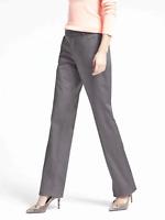 Banana Republic Logan-fit Sateen Luxe Gray sz 0S SHORT Career Womens Dress Pants