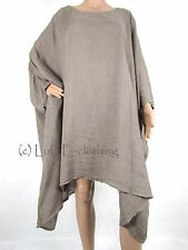 Linen Semi Fitted Plus Size Tops & Shirts for Women