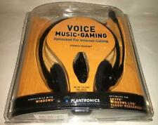 Plantronics Audio 325 Cableado Cancelación Ruido PC Auriculares Para Skype Chat