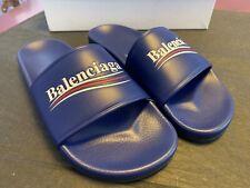 Balenciaga Sandal Logo Campaign Flat Pool, US7