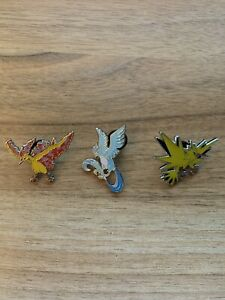 Pokemon Legendary Birds Trio Pin Set. Articuno, Zapdos & Moltres