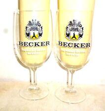 2 Brauerei Becker +1998 St.Ingbert Saarland Multiples German Beer Glasses
